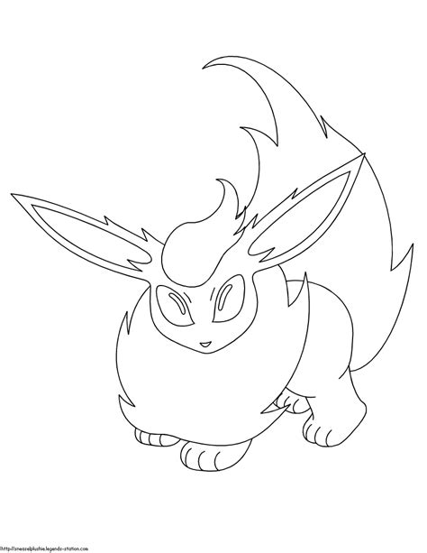 pokemon flareon colouring pages