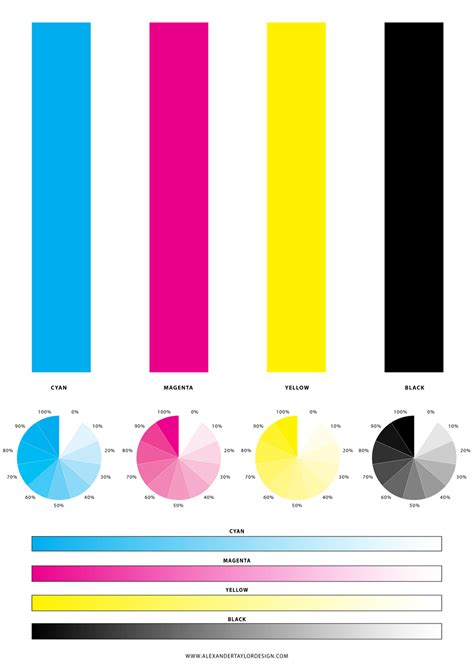 color quiz a4 printer test sheet alexander taylor graphic design