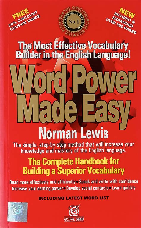 Pdf Word Power Made Easy Vocabulary word power made easy by norman lewis pdf