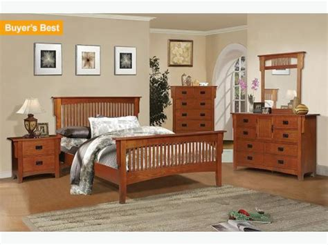 Used Furniture Kitchener Waterloo Mission Style Oak Full Bedroom Set In Excellent Shape West