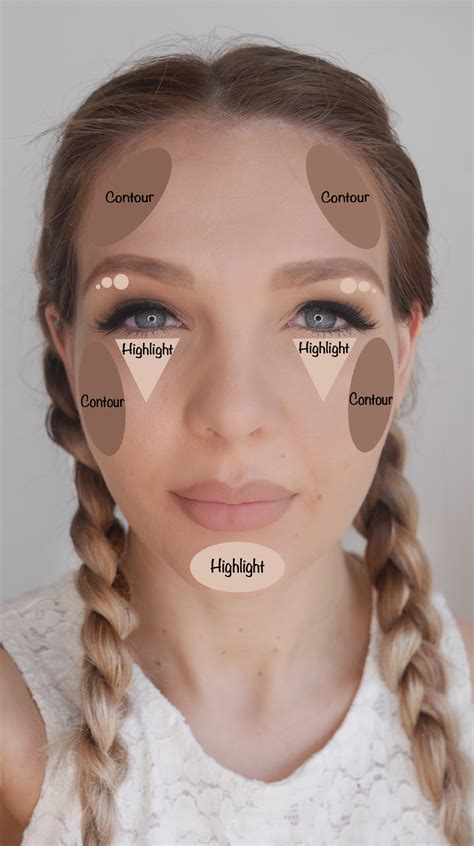 haircuts for protruding chin how to contour and highlight correctly for your faceshape