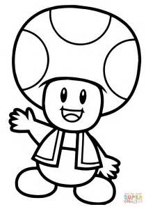 Mario Toad Coloring Pages mario bros toad coloring page free printable