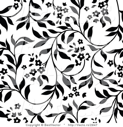 black and white vine pattern vector of white and black floral vines background pattern