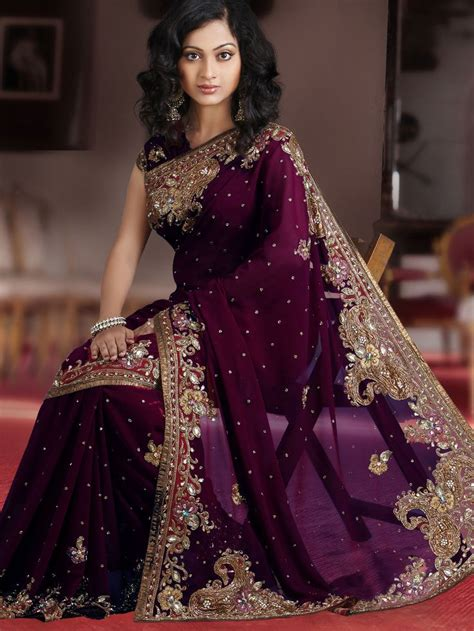 beautiful ls online india wine faux georgette saree with blouse online shopping
