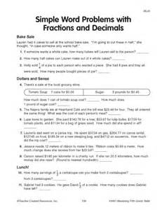 education world simple word problems with fractions and