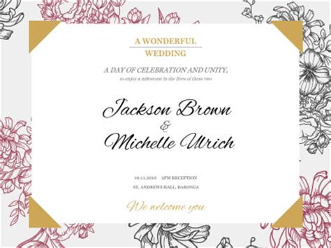 Wedding Banner Maker by Wedding Invitation Fotor Photo Cards Free Photo