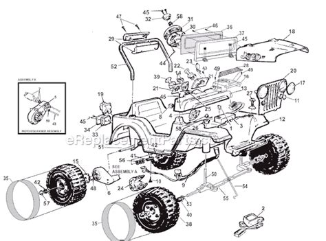 Jeep Power Wheels Parts Power Wheels 74388 9993 Parts List And Diagram