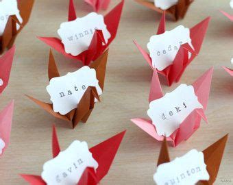 Origami Name Card - 16 name place cards vintage garden inspired origami