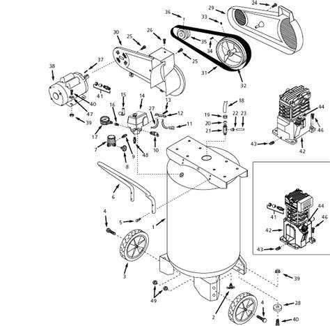 speedaire yna air compressor parts