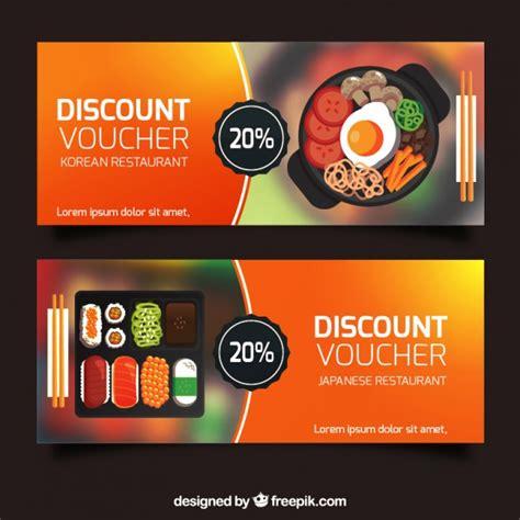 discount vouchers uk food discount vouchers banners collection vector free download