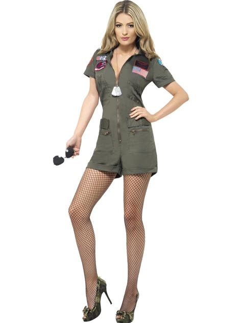 Top 8 Fancy Dress Costumes To Wear by Top Gun Aviator Playsuit Costume Tv Book And