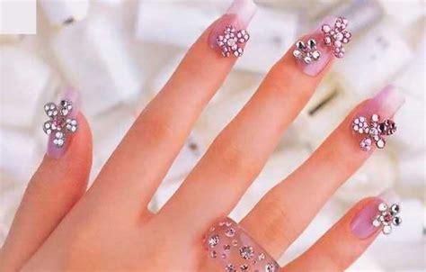 nails for older women 2014 rhinestone nail art designs 2014 for summer season 0011
