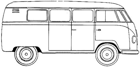 volkswagen bus clipart drawing of a bus clipart best