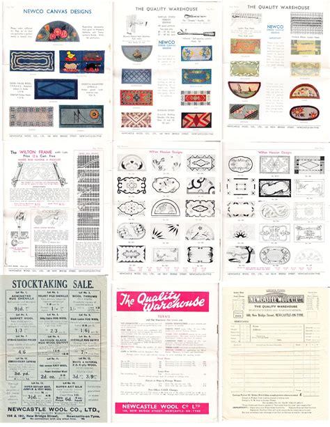 pattern making newcastle rugs vintage newcastle wool company catalogue