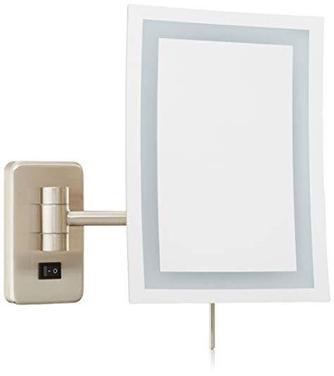 wall mounted makeup mirror rectangular 3x in wall mirrors jerdon jrt710nld 6 5 inch by 9 inch wall mount rectangular