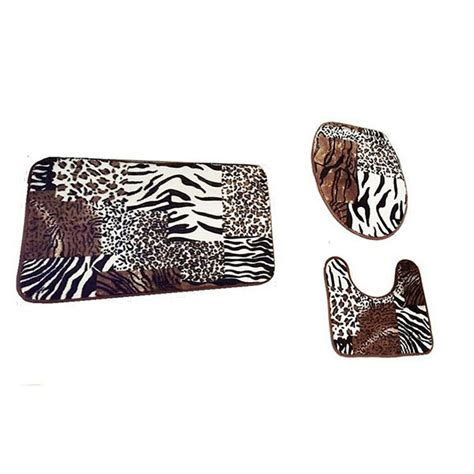 animal print bathroom rugs 3pcs bathroom mat set bath rug set animal skin print
