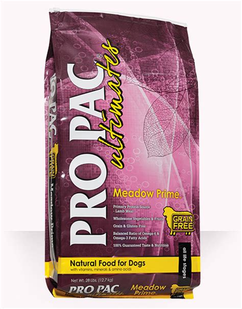 pro pac performance puppy food meadow prime pro pac ultimates