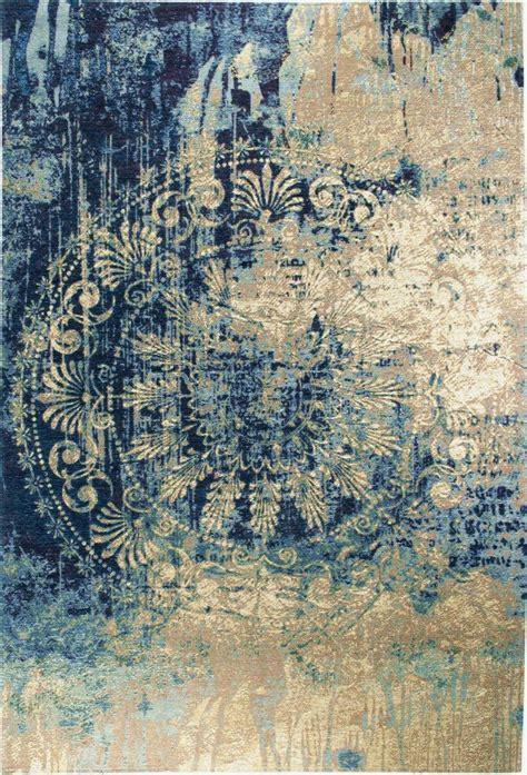 teppich luxor living barock beige blau - Teppich Blau