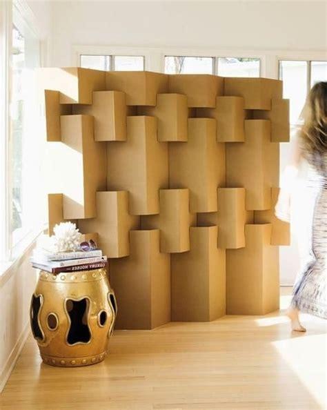 Diy Cardboard Beauty And Decorative Screens On Pinterest Cardboard Room Divider