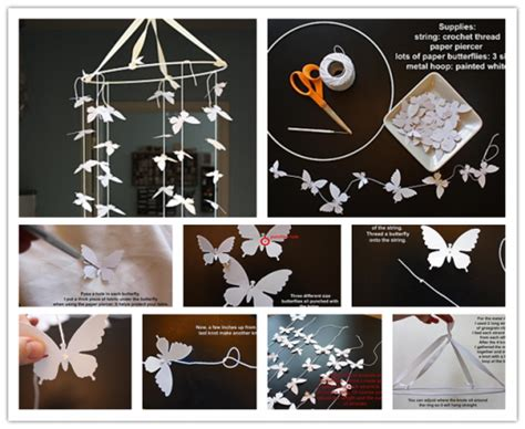 how to make paper butterfly mobile how to