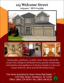real homes template sle flyer designs open house designs