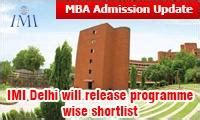 Mba Universe Ranking by Imi Delhi Pgdm Shortlist On Feb 4 With 90 Percentile In