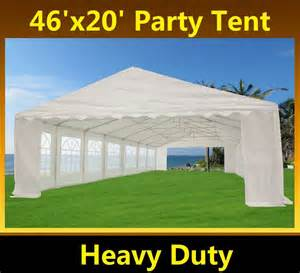 Backyard Party Tents 46 X 20 Heavy Duty White Party Tent Gazebo Canopy