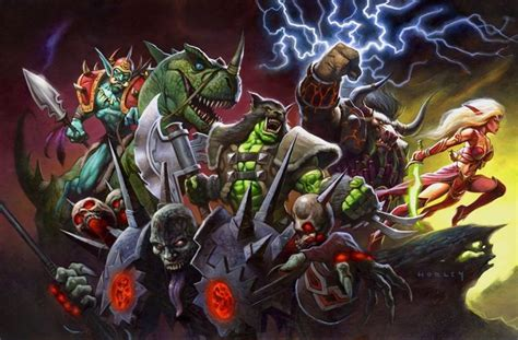 Dreamers In Hell Heroes In Hell card name power of the horde artist alex horley