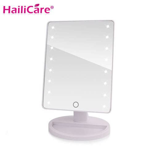 cheap vanity mirror with lights led touch screen makeup mirror professional vanity mirror
