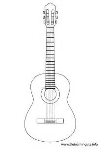 Acoustic Guitar Outline Drawing by Welcome To Memespp