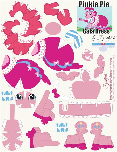 How To Make A Paper Pie - pinkie pie gala dress printout by fyrewytch on deviantart