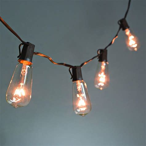 String Lights For Patio Home Depot 10 Light Clear Patio String To String Light Set 92887