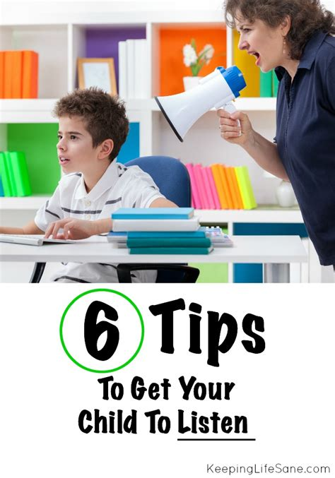 how to get your child tips to get your child to listen keeping sane