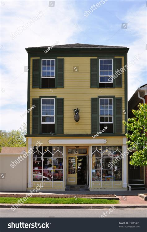 Apartment Above Store Hamilton Building Store Apartments Above Stock Photo 53849491