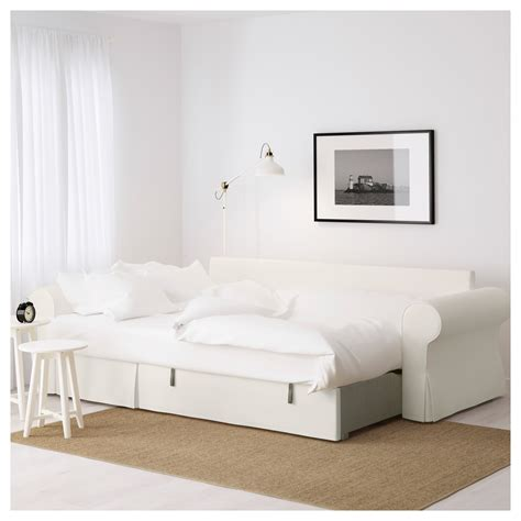 Backabro Sofa Bed With Chaise Longue Hylte White Ikea Ikea Sleeper Sofa With Chaise