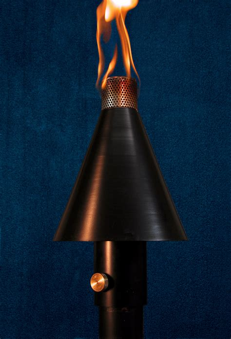 black light manual black cone tiki torch manual light