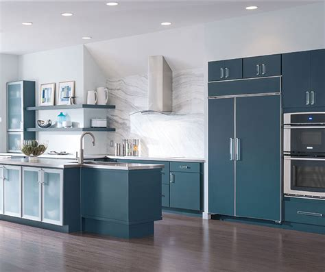 Kitchen Cabinets Blue Blue Painted Kitchen Cabinets Decora Cabinetry