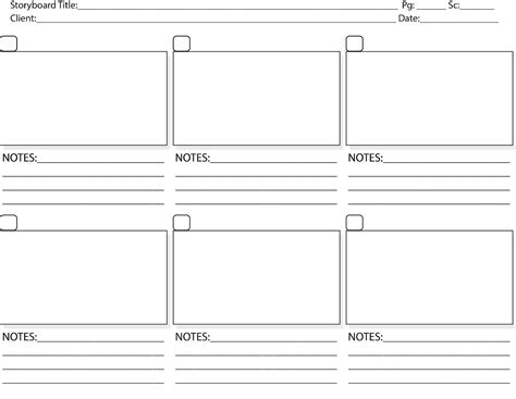 storyboarding template out of darkness