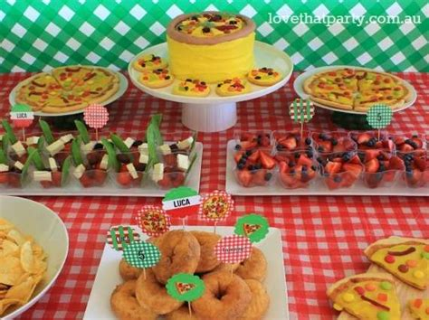 pizza party decorations pizza party table decor kids pizza birthday party ideas photo 15 of 28 catch my party