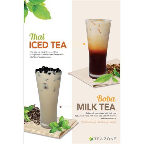 tea zone boba tea thai tea poster mission total supply