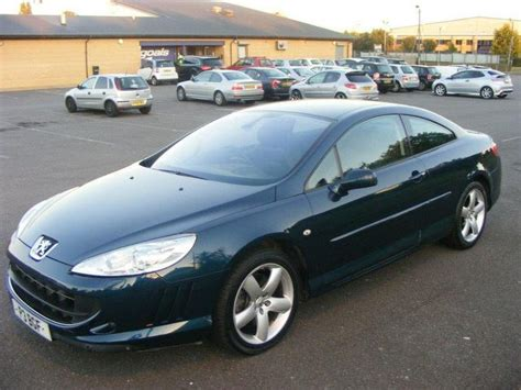 used peugeot 407 used peugeot 407 2007 petrol 3 0 v6 se 2dr coupe blue with