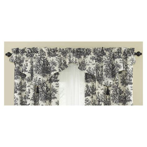 waverly home classics curtains shop waverly 20 in l black home classics ascot valance at