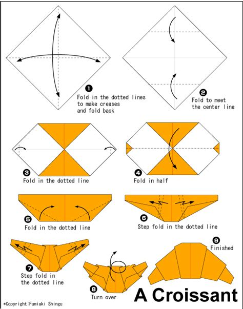 Origami Food - croissant easy origami for