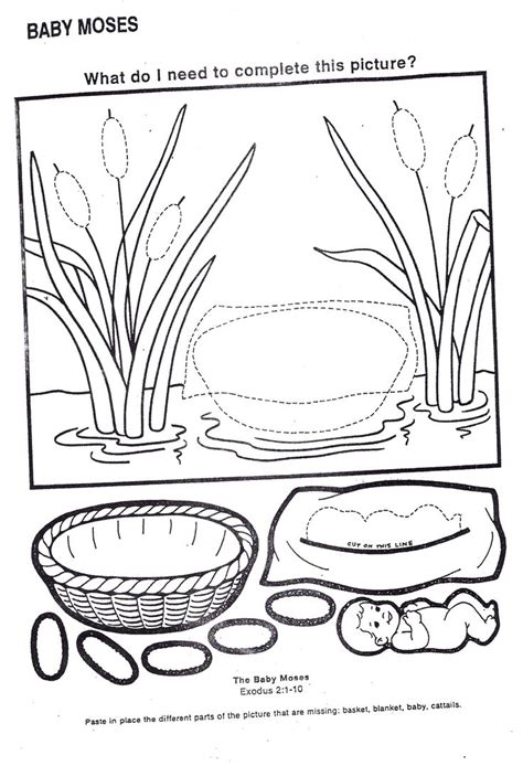 coloring pages baby moses basket 70 best moses baby images on pinterest