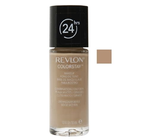 Revlon Colorstay Foundation In Medium Beige Revlon Colorstay 24hrs Foundation Combination Skin