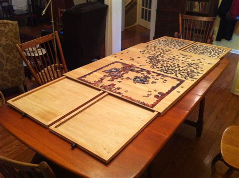 jigsaw puzzle table with drawers plans the ultimate puzzle board with drawers ezra and the farmer