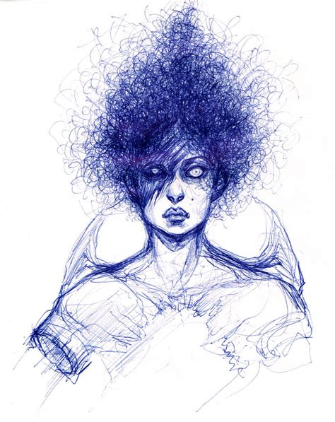 Sketches With Pen by Self Portrait Pen Sketch By Carliihde On Deviantart