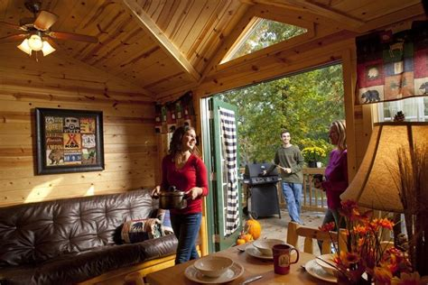 Williamsburg Cabins by Deluxe Cabin At Family Koa Cground Vrbo