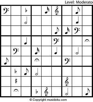 Printable Music Sudoku   printable music sudoku musidoku