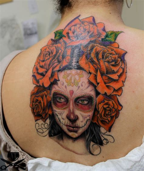 mexican rose tattoo mexican skull with big roses tattooimages biz